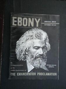 SEP 1963 EBONY MAGAZINE 100TH ANNIVERSARY EMANCIPATION PROCLAMATION