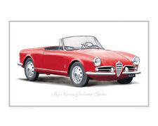 Alfa Romeo Giulietta Spider - Limited Edition Classic Print by Steve Dunn