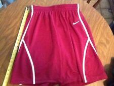 nike womens basketball shorts, womens medium, marron and white, nwt