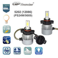 GP Thunder Cree LED Headlight 5202 PS24W 9009 12086 2504 6000K Fog Bulb White