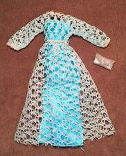 Vintage Barbie Francie Mod Doll Clothes Twilight Twinkle Gown 1971 Silver Purse