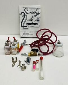 Vintage Paasche VL Airbrush Set Double Action Internal Mix Kit