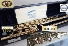 Flute Gold  24 KT 999,9 Flauta travesera Flute flûte traversière 24 ct  Ka