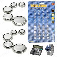40Pc Assorted Alkaline Button Cell Battery Set/Pack Camera Watch Calculator Fob