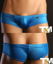 UM228-3 Sexy Blue Men Low Waist Mini Boxer Underwear XL