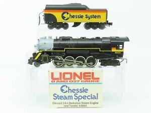 O Gauge 3-Rail Lionel 6-8003 Chessie System 2-8-4 Steam Loco #8003 Does Not Run