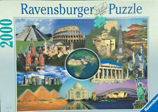 Ravensburger New Wonders Of The World 2000 Piece Jigsaw Puzzle -EUC, Complete!