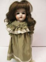 Vintage Antique Made In Germany? #12/0 12 inch Bisque Doll w/Teeth & Wig
