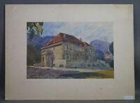 Gustav SCHLEICHER (1887-1973) - Junggesellenvilla Garmisch-Partenkirchen (21/7)