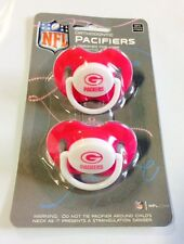 Green Bay Packers PINK Baby Infant Pacifiers NEW 2 Pack SHOWER GIFT! girls