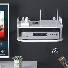 2 Tiers Wall Mount Shelf Display Floating Shelves Rack For DVD SKY BOX TV PS4