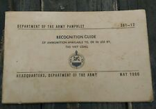 Department of the Army 1966 Vietcong Vietnam Ammunition Recognition Guide