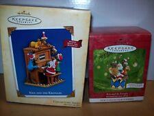 HALLMARK KEEPSAKE CHRISTMAS ORNAMENT KRIS & THE KRINGLES  IN BOX MULTI OPTIONS