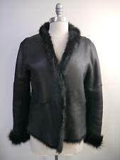 STRENESSE GABRIELE STREHLE $2,000 black lambskin shearling jacket size 8