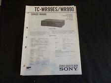 Original Service Manual Sony tc-wr99es/wr990