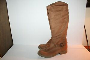 """Tall Knee Boots, Black, 16"""" Tall, #878506-00, Synthetic, Brown Women's US 9"""