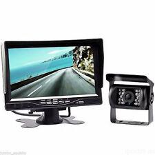 "4Pin 12-24V Car Reversing Camera Kit 7"" Monitor + IR CCD Backup Camera For Truck"