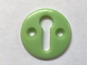 Vintage Retro Green Bakelite Door Lock Escutcheon Plate Art Deco 3cm Diameter