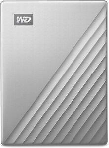 Western Digital WD 4TB My Passport Ultra USB Type-C External Hard Drive Silver