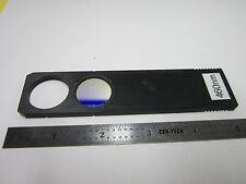 OPTICAL MICROSCOPE LEITZ WETZLAR FILTER 460 nm SLIDE OPTICS AS IS BIN#G7-24