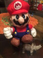 Very Rare Super Mario World Yoshi island fluffy hammer Mario plush