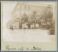 Algérie, Bône (عنابة), Grand Café de Bône  Vintage citrate print. Photo J. Bougr