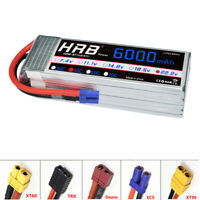 HRB 6S 22.2V 6000mAh RC Lipo Battery 50C 100C for Airplane Quadcopter Losi Car
