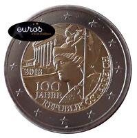 2 euros commémorative AUTRICHE 2018 - Anniversaire de la Démocratie Autrichienne