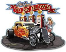 Hot Rod Rat Rod Pin Up Girl Metal Sign Man Cave Garage Shop Club Grossman LG134