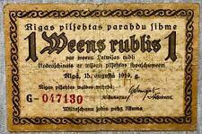 New listing Riga, Latvia - 1 Ruble - 1919