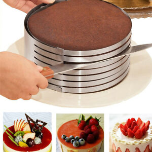 Adjustable 6 Layer Cake Slicer Cutting Guide 16 to 20 cm High Quality 430