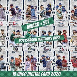 Topps Bunt 20 Award + Set (1+14) Postseason matchups base 2020 Digital Card