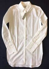 J Crew 0 Endless Tunic Top Shirt NWT $88 a9932 White Stretch Cotton NEW