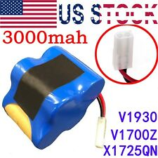Replacement Shark V1700Z V1930 Cordless Sweeper Battery Part # X1725Qn 3000mah
