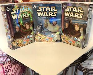 2005 Gen.Mills Star Wars Episode II Cereal Boxes Editions 1&2 1 (1x1) & 2x2 New!