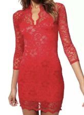 Sexy Floral Lace Stretch Bodycon Dress M (8-10)
