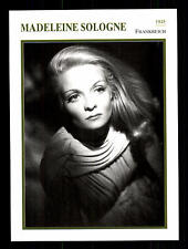 Madeleine Sologne Star Portrait Card - 80er Years Top + G 16882