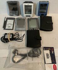 5x Palm Pilot Lot PalmOne Zire 31 Zire m150 Tungsten E Palm Vx & Accessories