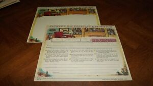 Western Union Greetings Unused Form Nice Graphic good color Fathers day LOOK