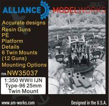 Alliance Model Works 1:350 WWII IJN Type-96 25mm Twin Mount (6) #NW35037