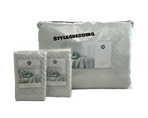 Hotel Collection Layered Frame FULL / QUEEN Quilted Coverlet & 2 STANDARD Shams