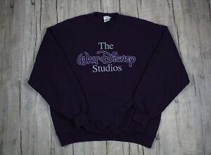 Vintage 90s The Walt Disney Studios Purple Crewneck Sweatshirt Size XL USA Made