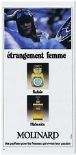 PUBLICITE ADVERTISING 054 1976 MOLINARD parfums pour femmes 'Habanita'