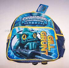 Skylanders Spyros Adventure Gill Grunt Boys Blue Yellow Printed Backpack New