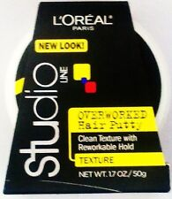 Loreal Paris Studio Line Clean Texture OVERWORKED HAIR PUTTY Reworkable Hold