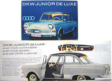 Auto Union DKW Junior De Luxe Original UK Brochure 62/3