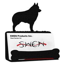 Swen Products Schipperke Dog Black Metal Business Card Holder