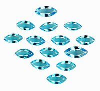 Natural 10.95 Ct/14Pcs Swiss Blue Topaz Gemstone Brazilian Marquise Certified