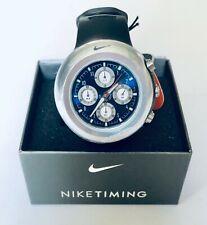 NIKE OREGON ANALOG CHRONO WATCH-WA0022-007-Black/Military Blue-RARE!-New in Box!