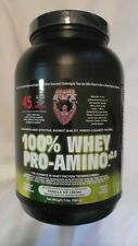 Healthy 'N Fit 100% Whey Pro-Amino v2.0 Vanilla Ice Cream 2 lbs OPENED #D